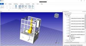 Advancing Robotics Simulation by AMC Bridge: Hirata Robot Simulator Case Study